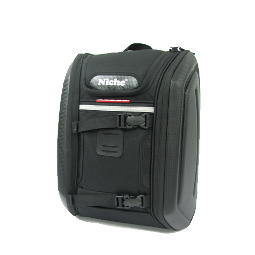 Niche black knight backpack is a cool soft bag for motorcycle rider