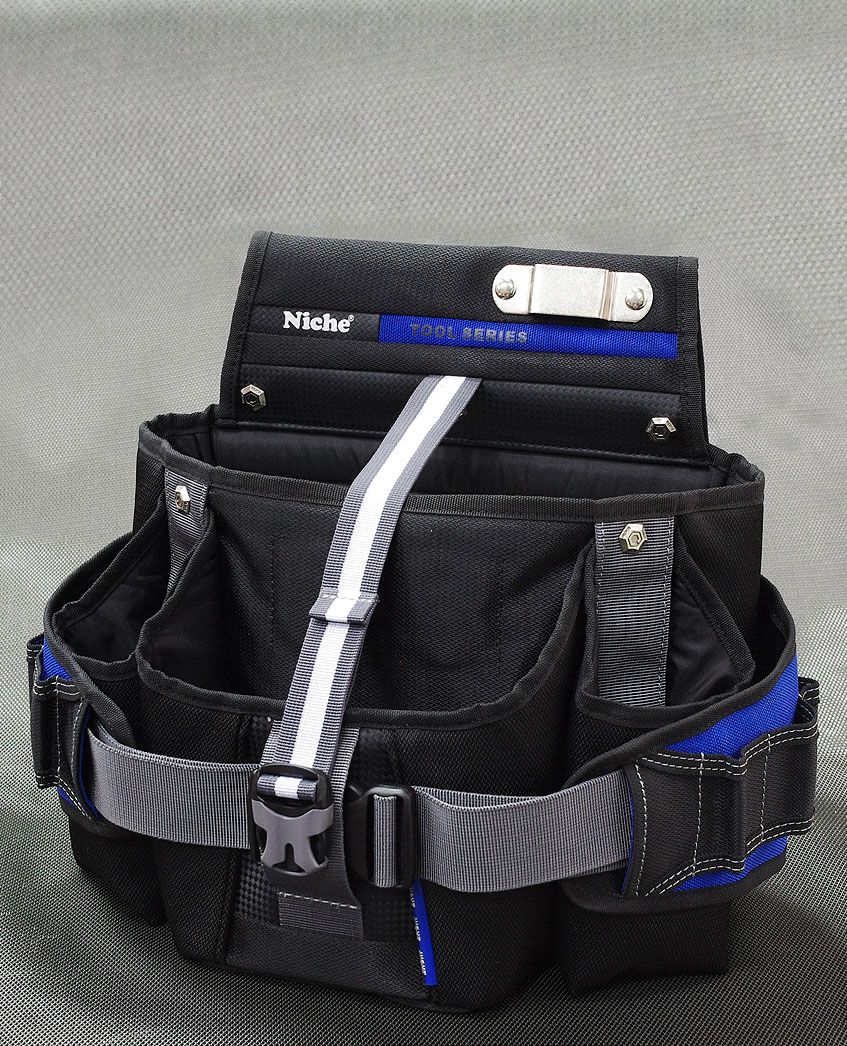 Opened Double Layers Waist Tool Bag, Multiple Carry Ways