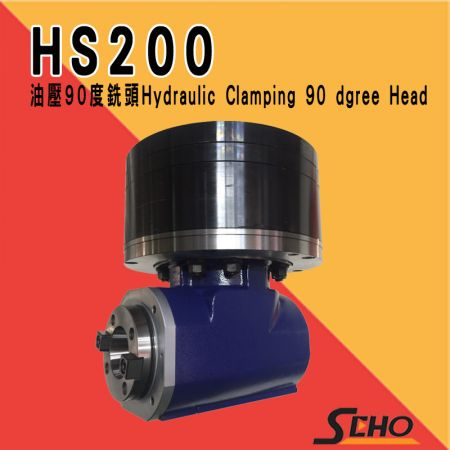 Hydraulic Clamping 90 degree head - HS200 Hydraulic Clamping 90 degree head