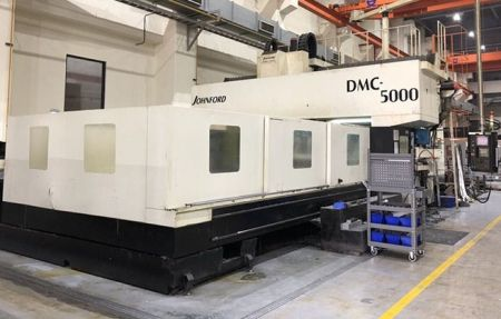 JOHNFORD DMC-5000 CNC DOUBLE COLUMN MACHINING CENTER