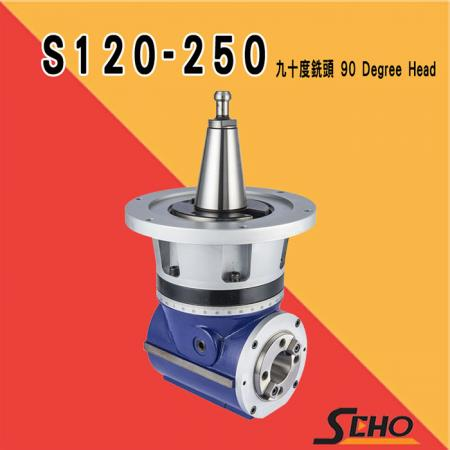 Compact 90 Degree Milling Head - S120-250-B4 Compact 90 Degree Milling Head