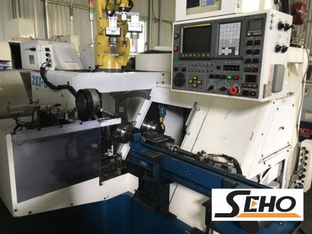 SHIMADA TWO SPINDLE CNC LATHE - SHIMADA 2SI-6 TWO SPINDLE CNC LATHE