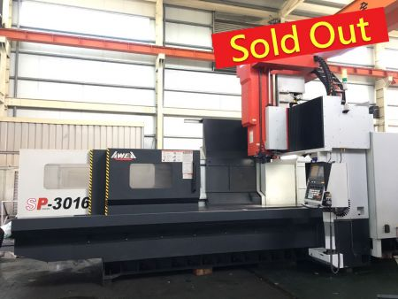 AWEA CNC DOUBLE COLUMN MACHINING CENTER - SP-3016 AWEA CNC DOUBLE COLUMN MACHINING CENTER