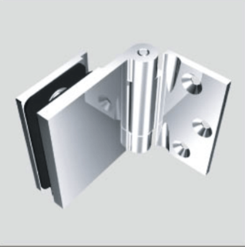 Glass Free Hinge, Glass to Wall, Inswing, 90 degree - Glass Free Hinge, Glass to Wall, Inswing, 90 degree