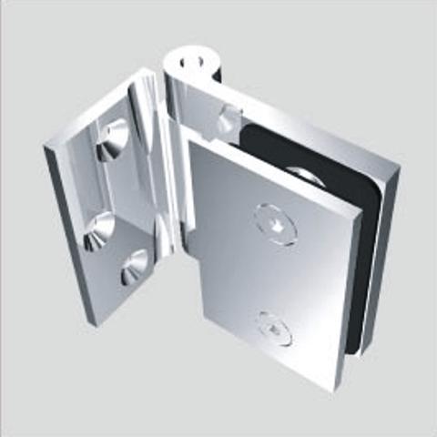 Self Lock Catch Clamp Hinge Wall to Glass For Bathroom Glass Door 90° Angle
