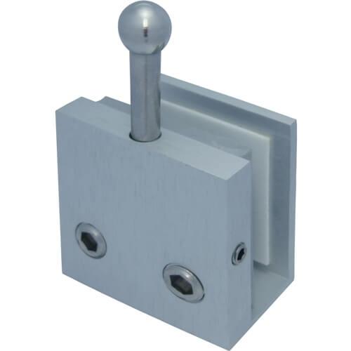 Bottom door bolt on glass - Bottom door bolt