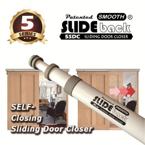 SLIDEback Fecho de porta deslizante - Fecho automático da porta deslizante, fecho manual da porta deslizante.