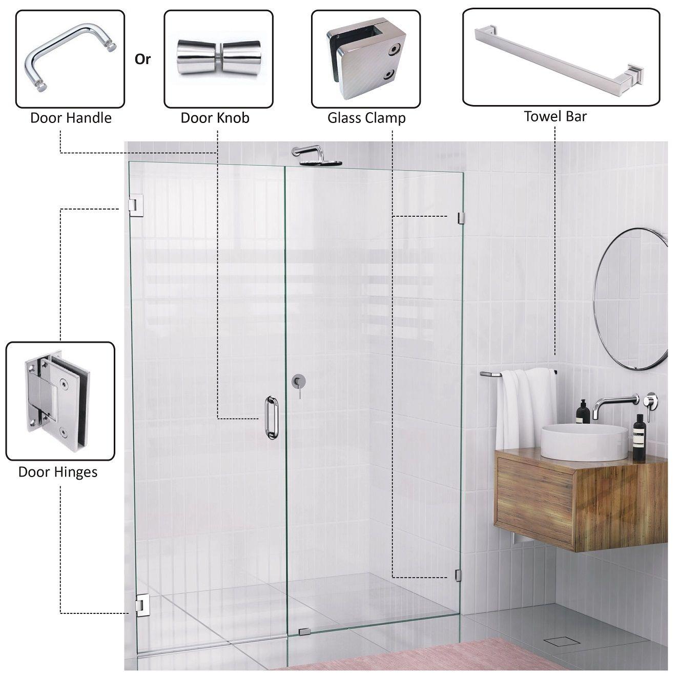 Porta de vidro do chuveiro - Porta de box de vidro
