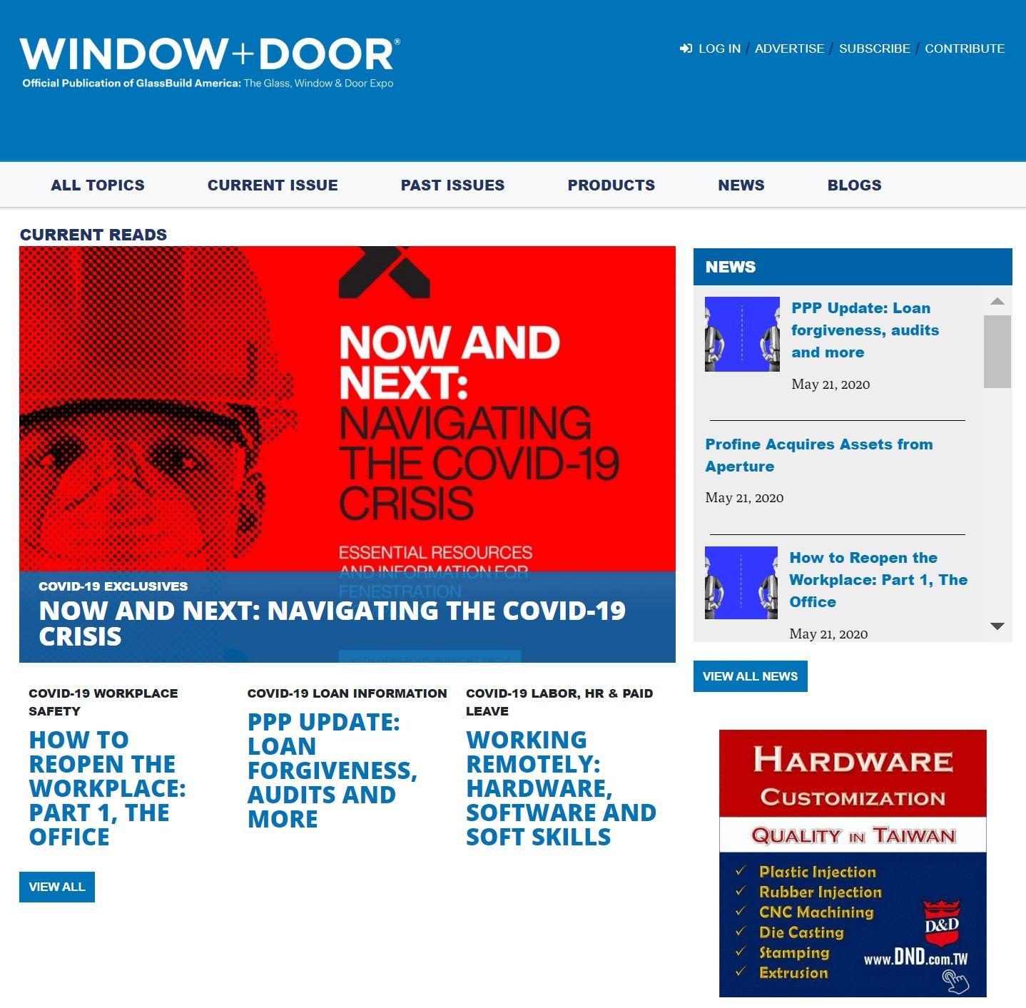 D&D no site USA-Window + Door