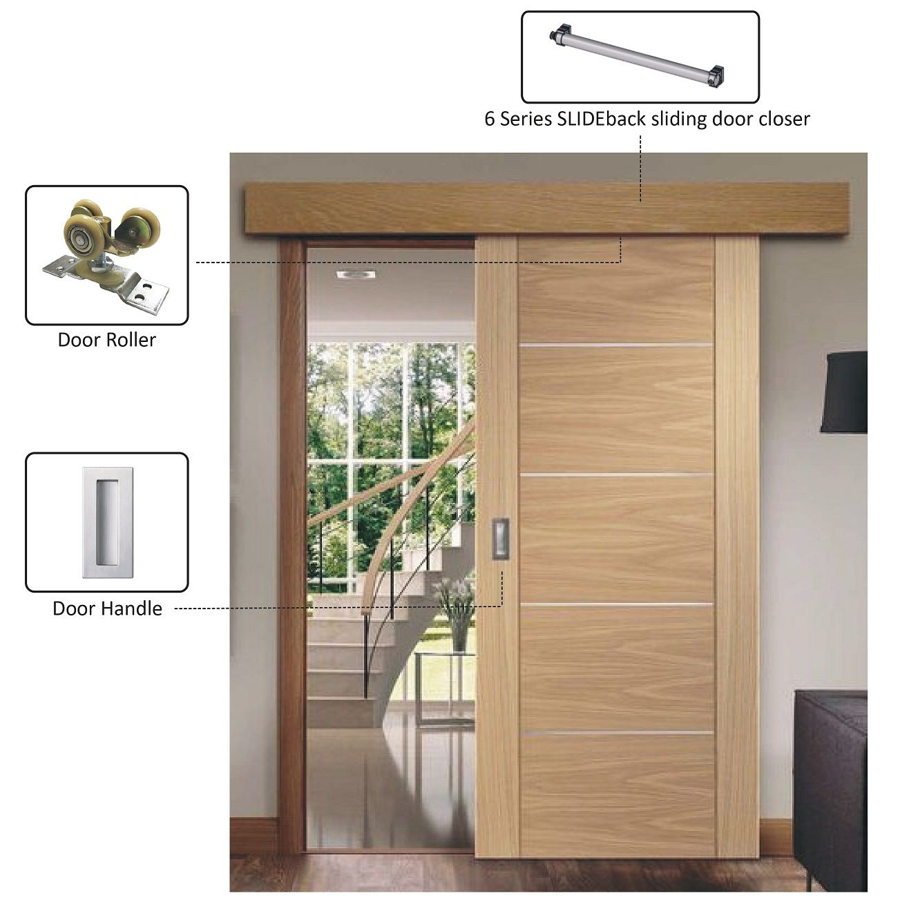 Porta deslizante de madeira - Porta corrediça de madeira
