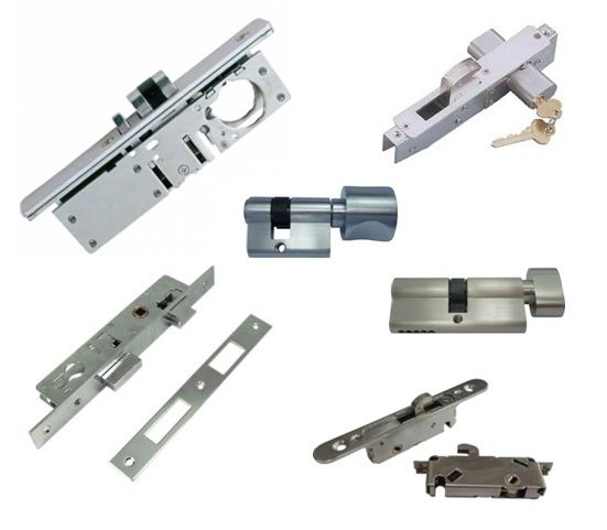 Door Lock and Cylinder - Deadlatch, hookbolt and deadbolt for mortise lock set