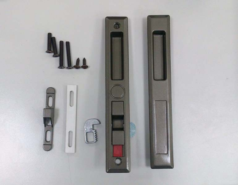 Conjunto de manopla de montagem embutida - Pega de bolso, pega embutida