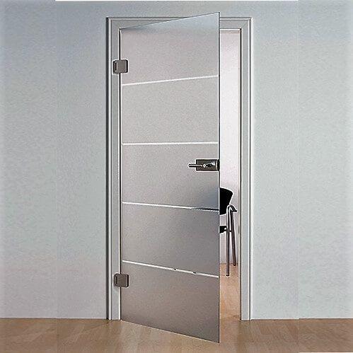 Распашная стеклянная дверь - Безрамная стеклянная дверь