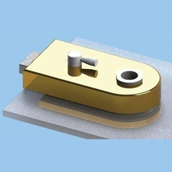 Glass Patch Lock com trava magnética e interruptor de alavanca - Fechadura de vidro com trava magnética e tampa de raio