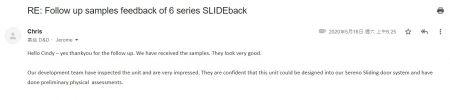 Feedback do nosso SLIDEback porta deslizante mais perto