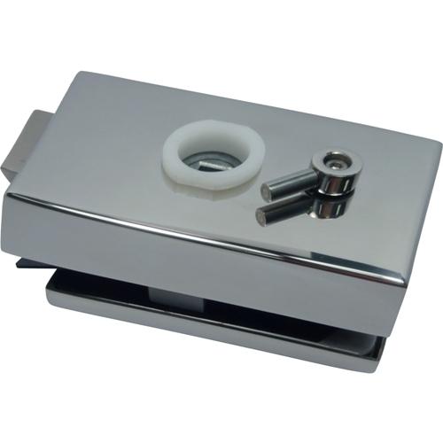 Glass Patch Lock - Trava mecânica da série quadrada com chave indicadora