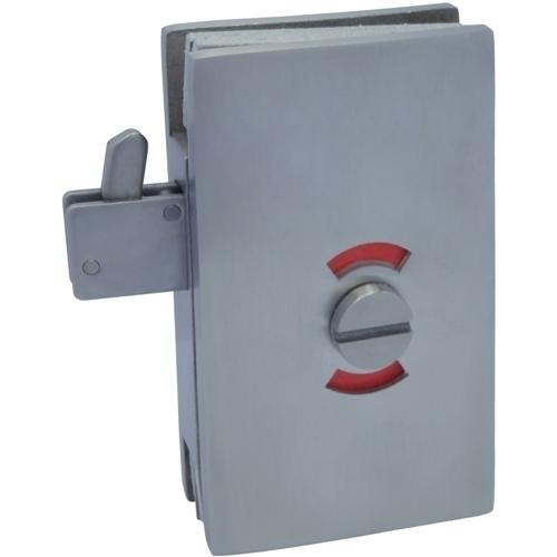 Glass Patch Lock - Trava de gancho série quadrada com interruptor indicador