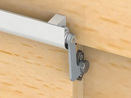 Fix 4 Series SLIDEback sliding door closer on wooden door jamb