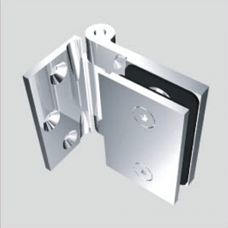 Glass Free Hinge, Glass to Wall, outswing, 90 degree