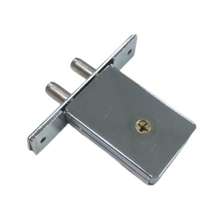 Trava com chave cruzada com fechos duplos - Fechadura de porta com fechadura dupla com chave cruzada