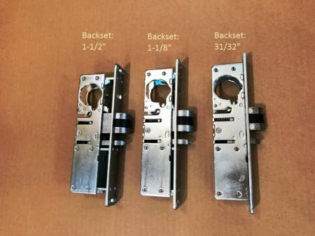 "Deadlatch, backset 1-1/2"", 1-1/8"", 31/32"""