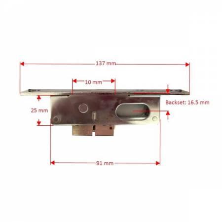 Dimesion of LT-05 mortise dead lock