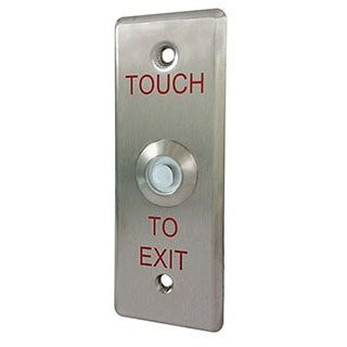 Touch type exit switch with narrow faceplate - Exit Switch with narrow faceplate