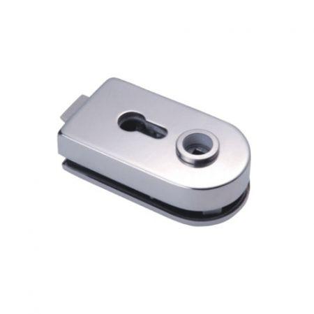 Encaixe de alavanca, 119 mm - Encaixe de alavanca de vidro para porta de vidro sem moldura