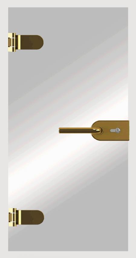 Aplicação de patch lock de vidro
