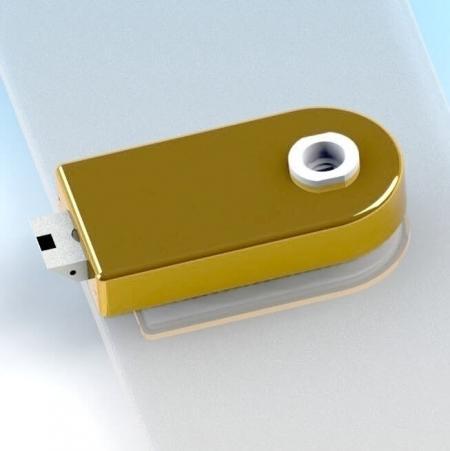 Glass Patch Lock, tipo fictício - Fechadura de vidro com trava mecânica e tampa radial