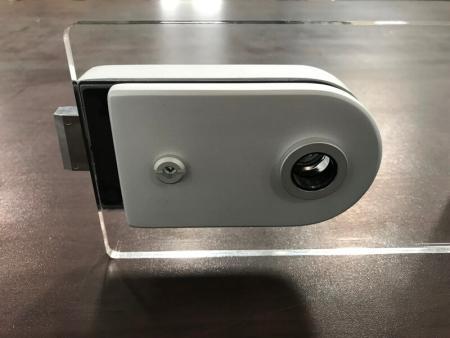 Patch lock de vidro com trava magnética e alavanca de interruptor