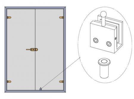 Application of bottom door bolt