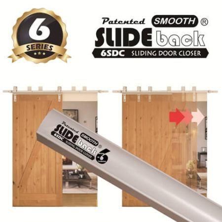 6 Series SLIDEback Sliding Door Closer - SELF CLOSE sliding door closer, SLIDE back sliding door closer