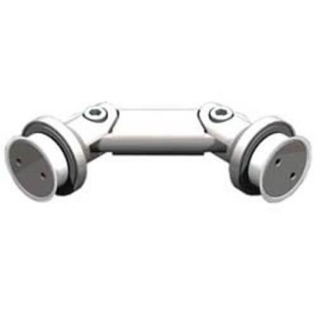 Conectores de vidro ajustáveis - costas com costas - Conectores de vidro ajustáveis - costas com costas