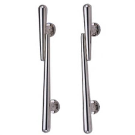Alças comerciais de empurrar e puxar - Barras de apoio, maçanetas de portas comerciais, puxadores de portas comerciais, barras de empurrar.