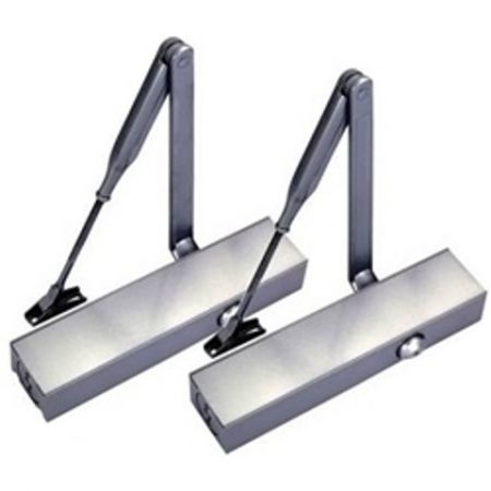 Standard hydraulic door closer with optional cover - Compact Hydraulic Door Closer