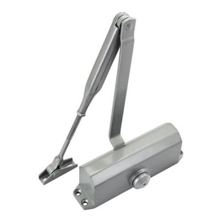 Door Closer, EuroGON - Rack-and-pinion door closer with scissor arm