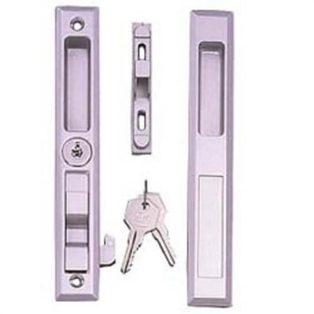Flush sliding door handle - Flush sliding patio door handle set, with key lock.