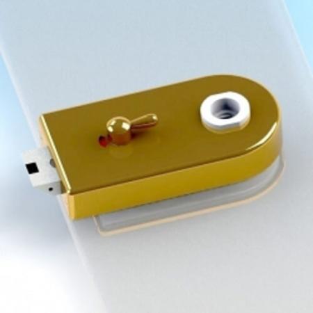 Glass Patch Lock com indicador e interruptor