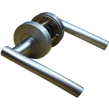 Alças de alavanca - Maçanetas de porta de alavanca, maçanetas de conjunto de alavanca tubular.
