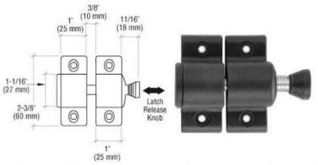 Dimensão da trava magnética