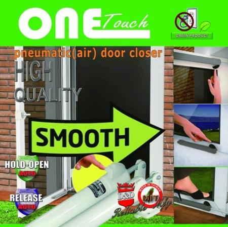 ONE Touch Storm Door Closer - Fecho de porta articulado, fecho de porta cilíndrico, Fecho de porta de tempestade, fecho de botão de pressão, fecho de porta liso, fecho de porta pneumático.