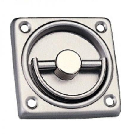 Retirada quadrada para dispositivo de saída série ED-800, ED-801, ED-850, ED-851 - Guarnição extraível de aço inoxidável