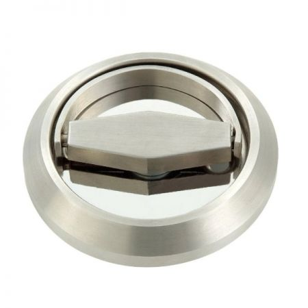 Guarnição Round Pull para dispositivo de saída sereies ED-800, ED-801, ED-850, ED-851 - Guarnição extraível de aço inoxidável