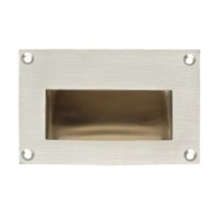 Recessed handle out trim - Stainless steel recessed pull handle