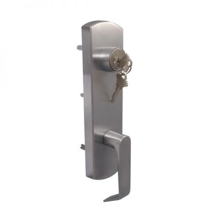 Lever Escutcheon out trim for ED-400 C series concealed vertical rod exit device - Heavy duty clutch lever escutcheon out trim for ED-400 C series concealed vertical rod exit device