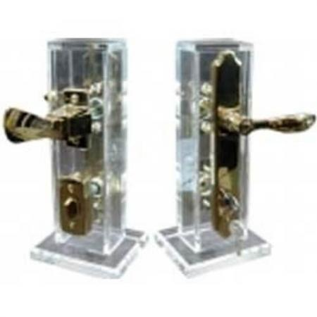Maçaneta da fechadura da porta de tempestade - Conjunto de maçaneta de fechadura de mortise para porta de proteção contra chuva