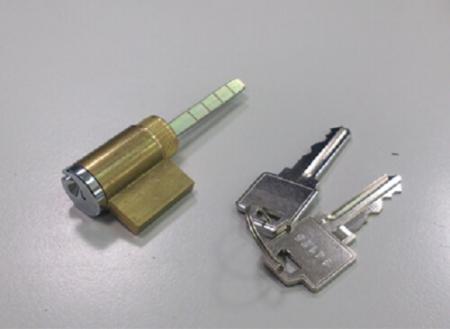 Cilindro de borda com acabamento em cromo polido sobre latão - Conjunto de cilindro para maçaneta articulada com acabamento em cromo polido sobre latão