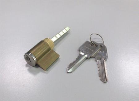 Cilindro de borda com acabamento em níquel acetinado sobre latão - Conjunto de cilindro para maçaneta articulada com acabamento em níquel acetinado sobre latão