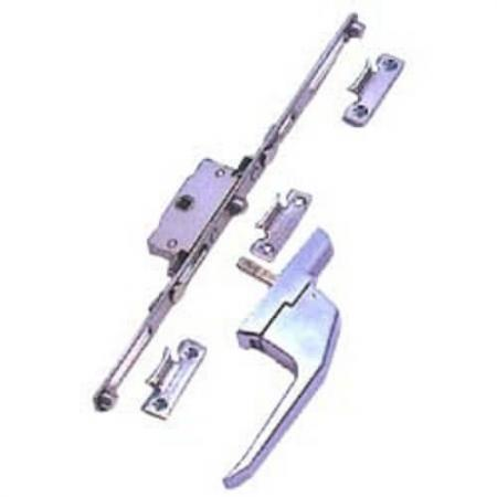 uPVC Espagnolotte Window Lock Handle set. - Sistema de puxador e trava de janela Espag UPVC.